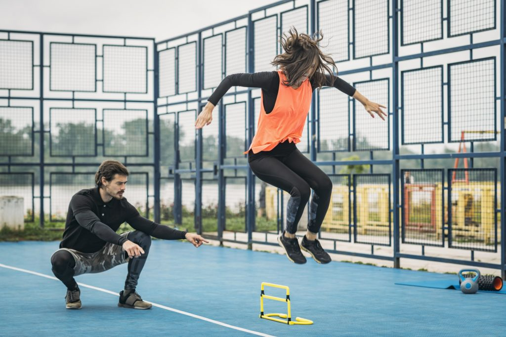 Jumping Training with Personal Fitness Trainer
